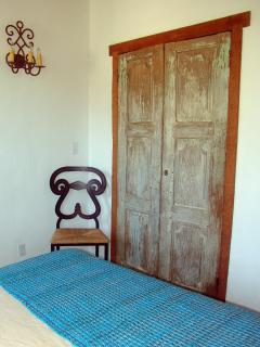 Bedroom 2, antique doors