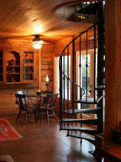 The Hay Barn interior is a thrill to enjoy the all pine walls, historic barn with contemporary comforts.