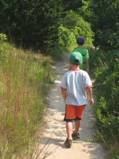 Hiking Fort Hill in Eastham - 5 miles from the house