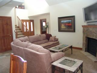 Living Room With Fireplace & Hugh Flat Screen TV/DVD
