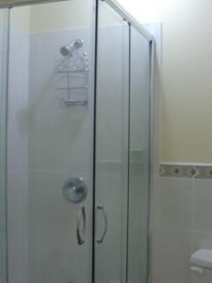 Our Glass Shower in the Bathroom