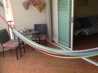 Hammock to relax and enjoy the amazing view. All windows have screens.