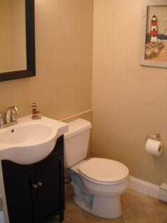 New Powder Room - located in the master bedroom