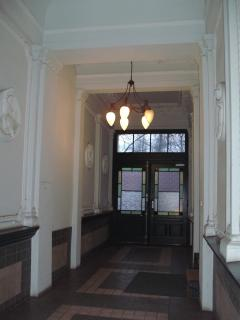 entrance into building