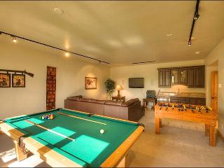 Game Room with Home Theater, Wii Game system, Pool Table, Foos-Ball, & Wet Bar with Mini-Fridge.