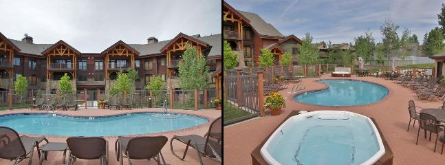 1 of the 4 Heated Pools, 2 of the 11 Hot Tubs, Tables,  Umbrellas, & Sunbathing Chairs