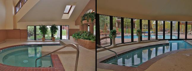 Large Indoor Hot Tub and Indoor / Outdoor Pool