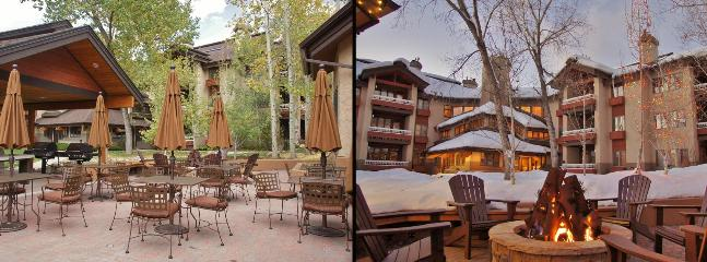 You can Grill on the Condo Deck, or here by the Clubhouse.  Enjoy the Outdoor Firepit!