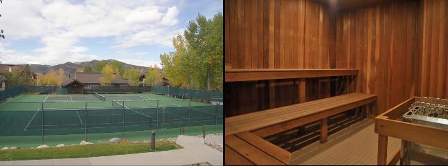 2 Tennis Courts & a big Co-Ed Sauna