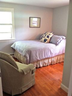 Bedroom with full sized bed