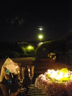 A toast with the moonlight