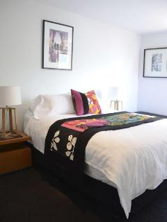 A spacious room with queen pillow top mattress. Individually air conditioned and heated.