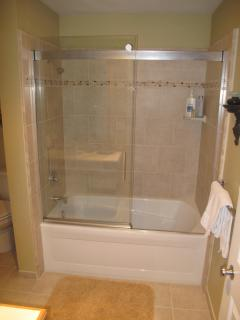 Master Bath with new tub and shower