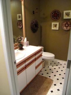 Hall bath with shower