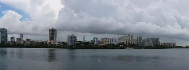 This is the view from the pool area... All Condado Lagoon and cruises to the right
