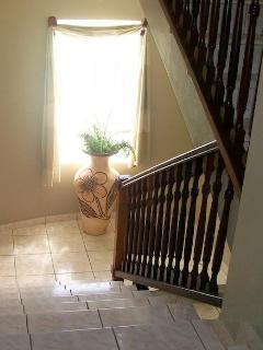 Stairway up to Main Floor Living Area