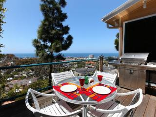 Outdoor dining with ocean views