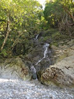 Seasonal waterfall at Playa La Macha, just below Casa Libertad