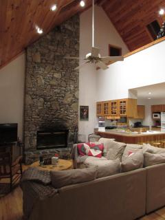Vaulted T&G pine ceiling with skylights! Open loft overlooks Great Room.