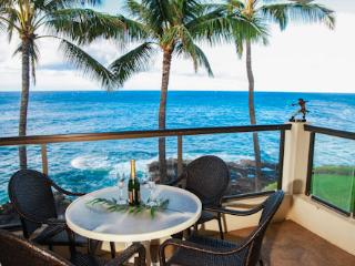 Poipu Shores 303A OceanFRONT Elegance, 2BR/2BA, Air Conditioning, Heated Pool.