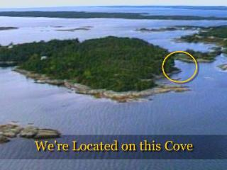 Aerial of our location on LaHave Island