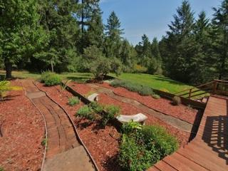 Hummingbird House, Landscaped Yard, Forestville, CA