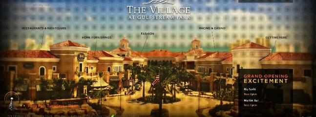 Nearby Gulfstream Village with shopping, dining, entertainment, a casino and horse racing