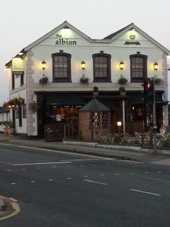 Albion Pub across the road