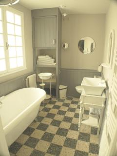 En-suite withTraditional French styling