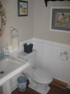 Half bath on second floor