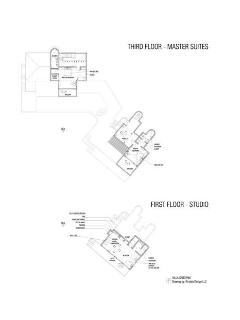 Floor plan of the top floor in the Master Villa and the Guest Villa