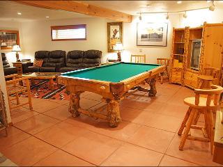 Game Room & Home Theater - Pool Table & MIni Fridge.