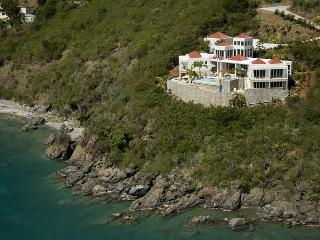 VI Friendship Villa at Great Cruz Bay, St. John - Oceanfront, Pool, View Of Yachts In Great Cruz Bay