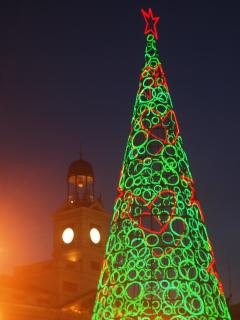 Puerta del Sol Christmas tree