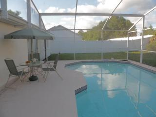 Pool deck with furniture