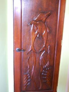 Custom Carved Guanacaste wood doors