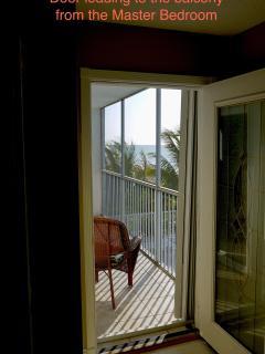 Door to Porch from Master Bedroom