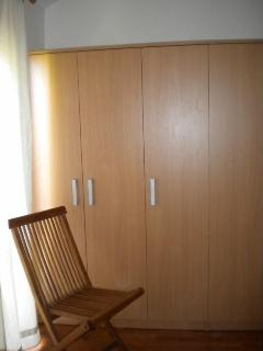 The wardrobes in the second bedroom