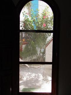 looking outside in the downstairs casita