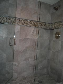 With a walk in master shower -- a luxury in itself!