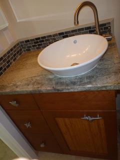 Sink and Vanity in half bathroom
