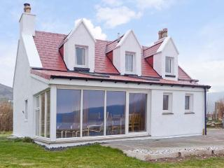 JUBILEE COTTAGE, pet friendly, country holiday cottage, with a garden in Uig, Isle Of Skye, Ref 12666