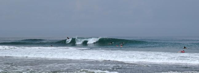 The surf break right in front of the villas