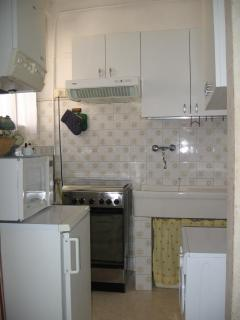 Kitchen with wash machine