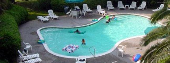 Two pools, one heated