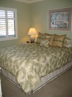 Guest Bedroom, queen new bedding, mattress.