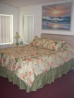 Guest Bedroom with Queen Bed and shared bathroom