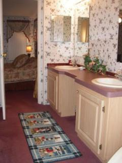Master Bath with Double Sink and separate Shower/Jacuzzi Tub