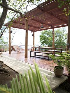 Tropical deck with ocean views!