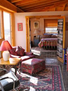 master bedroom and sunroom